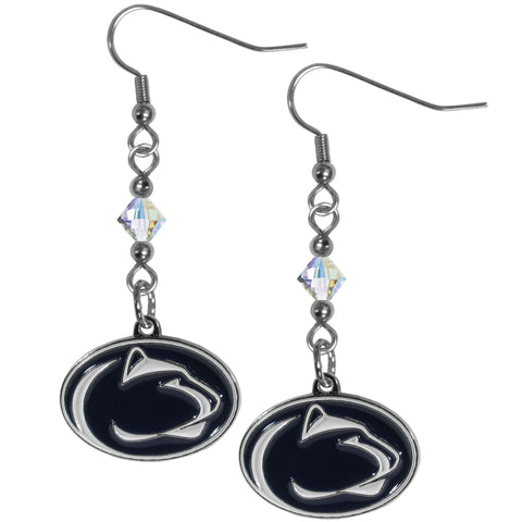 Penn St. Nittany Lions Crystal Dangle Earrings