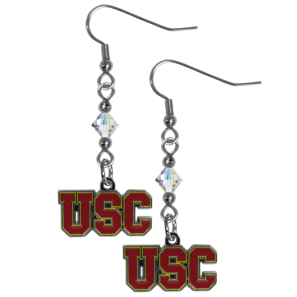 USC Trojans Crystal Dangle Earrings