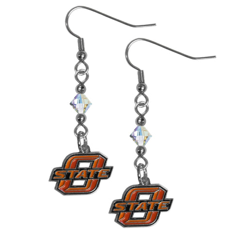 Oklahoma State Cowboys Crystal Dangle Earrings