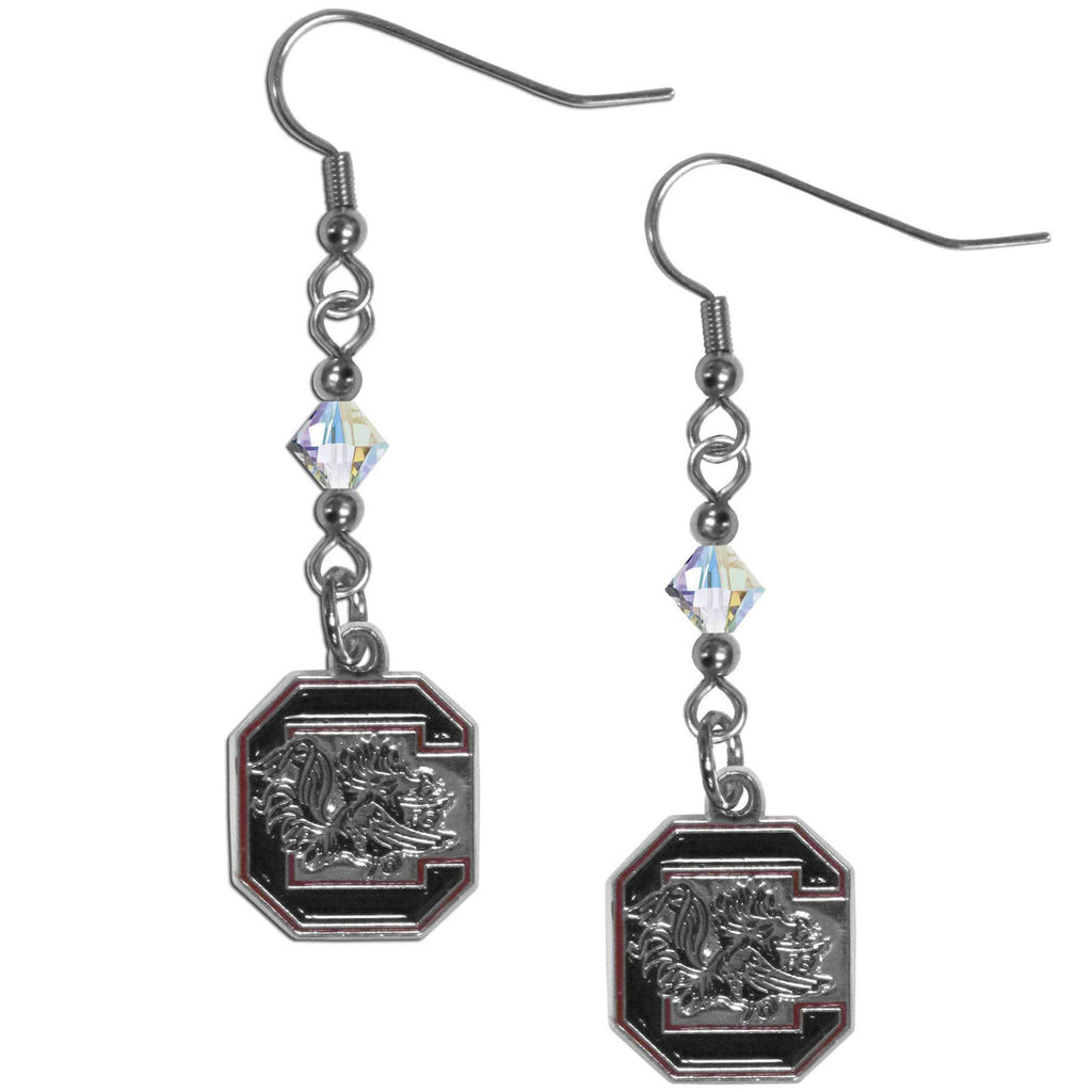 S. Carolina Gamecocks Crystal Dangle Earrings