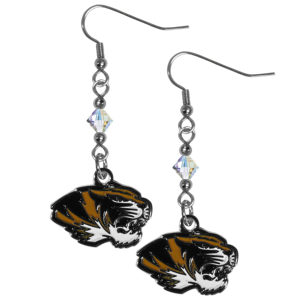 Missouri Tigers Crystal Dangle Earrings