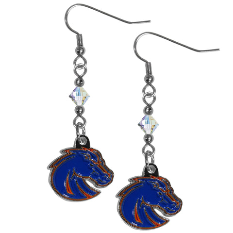 Boise St. Broncos Crystal Dangle Earrings