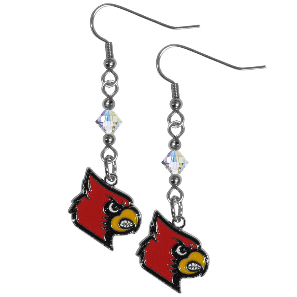 Louisville Cardinals Crystal Dangle Earrings