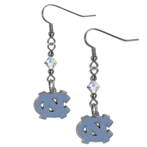 N. Carolina Tar Heels Crystal Dangle Earrings