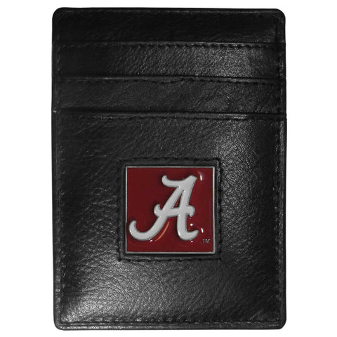 Alabama Crimson Tide Leather Money Clip/Cardholder