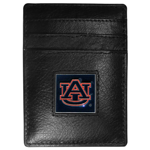 Auburn Tigers Leather Money Clip/Cardholder