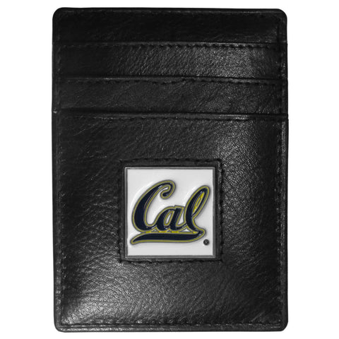 Cal Berkeley Bears Leather Money Clip/Cardholder