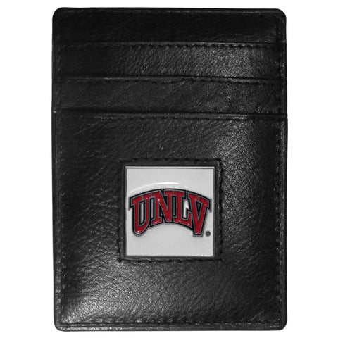 UNLV Rebels Leather Money Clip/Cardholder Packaged in Gift Box