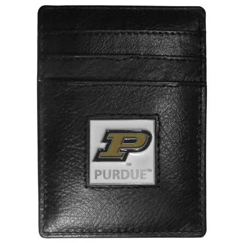 Purdue Boilermakers Leather Money Clip/Cardholder
