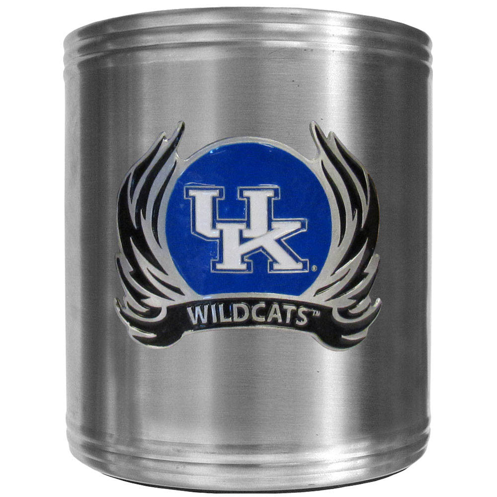 Kentucky Wildcats Steel Can Cooler Flame Emblem