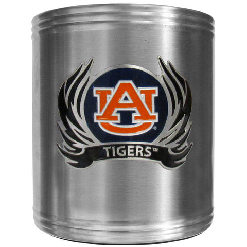 Auburn Tigers Steel Can Cooler Flame Emblem