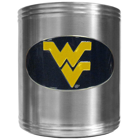 W. Virginia Mountaineers Steel Can Cooler