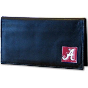 Alabama Crimson Tide Deluxe Leather Checkbook Cover - CDCK13BX