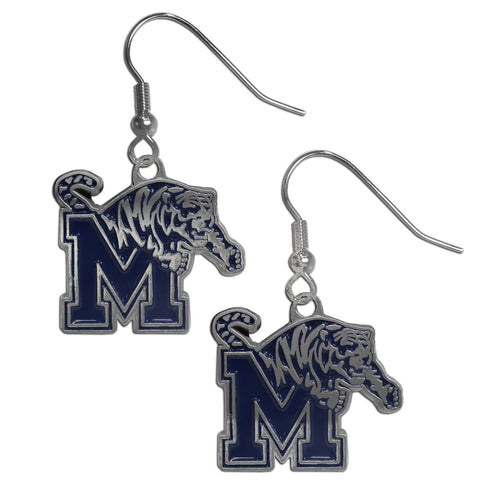 Memphis Tigers Chrome Dangle Earrings