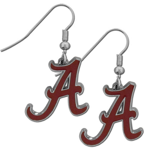 Alabama Crimson Tide Chrome Dangle Earrings - CDE13N