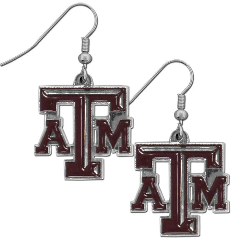 Texas A & M Aggies Chrome Dangle Earrings
