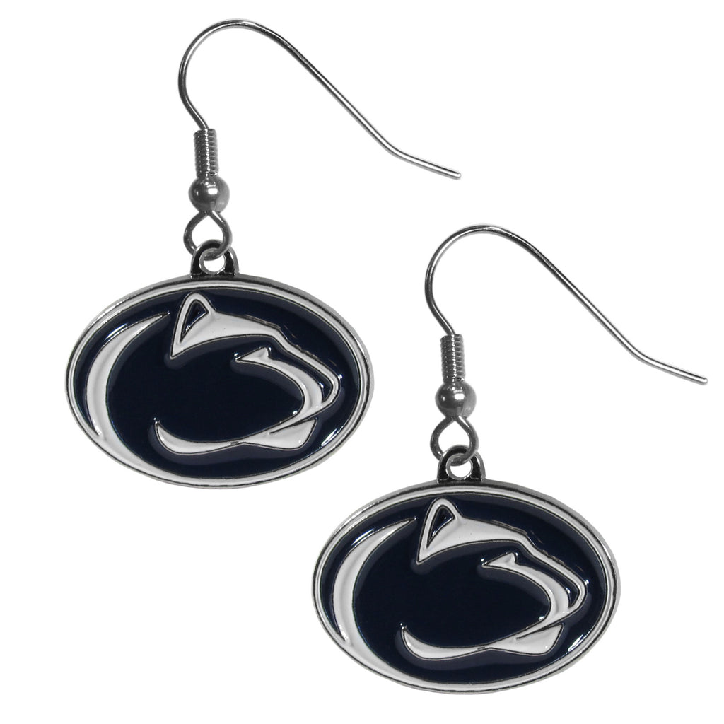 Penn St. Nittany Lions Chrome Dangle Earrings - CDE27N