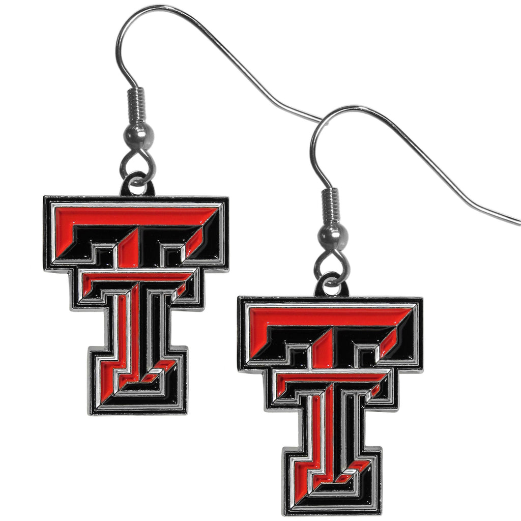 Texas Tech Raiders Chrome Dangle Earrings - CDE30N