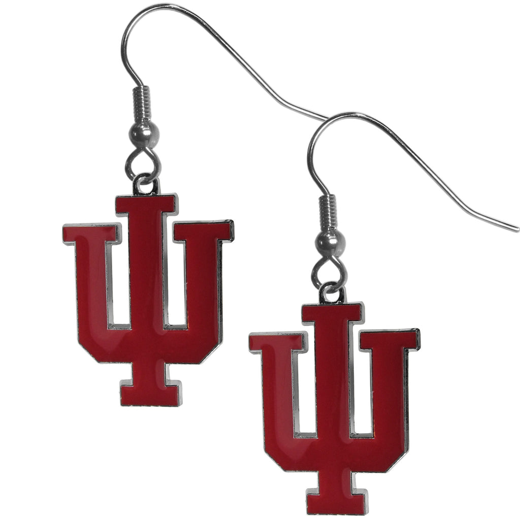 Indiana Hoosiers Chrome Dangle Earrings - CDE39N