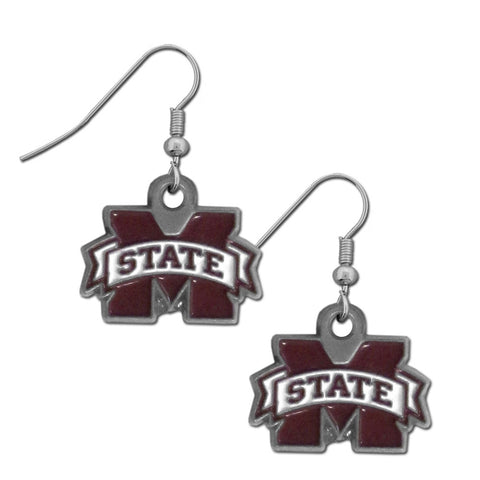 Mississippi St. Bulldogs Dangle Earrings