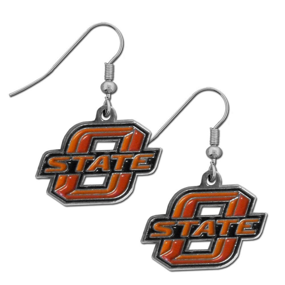 Oklahoma State Cowboys Chrome Dangle Earrings