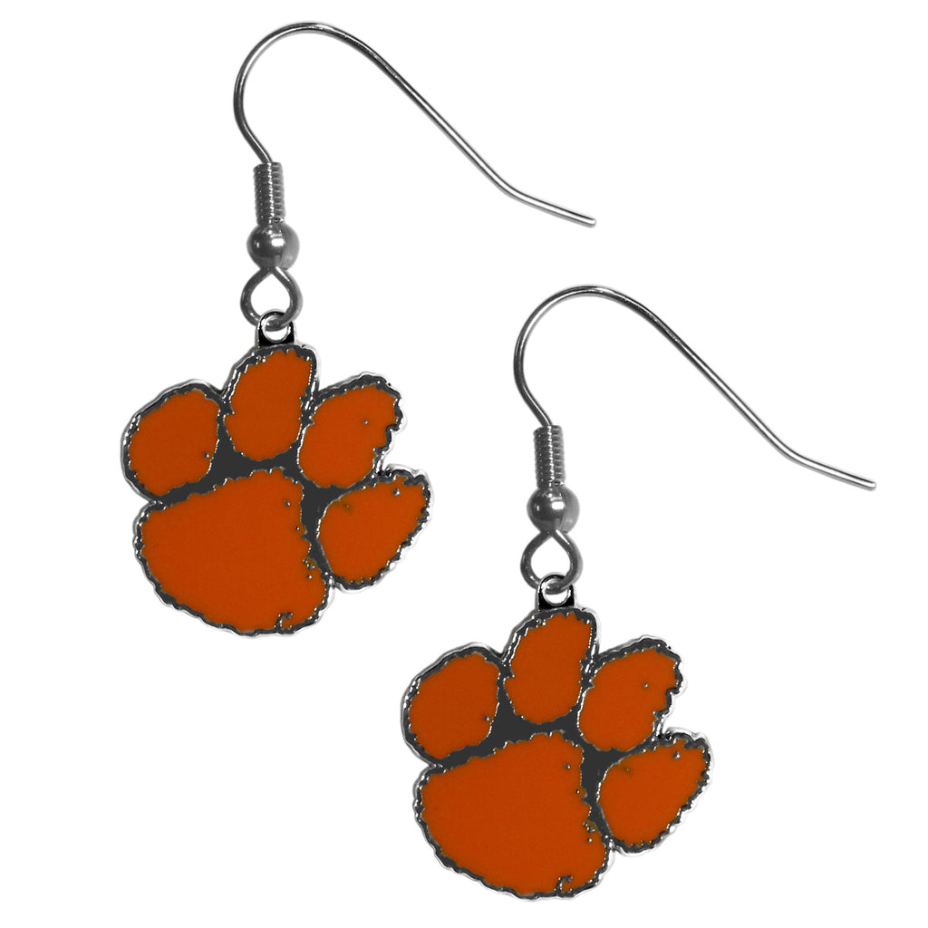 Clemson Tigers Chrome Dangle Earrings - CDE69N