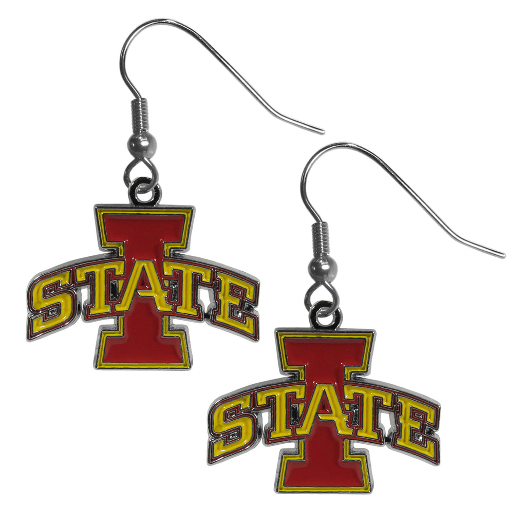 Iowa St. Cyclones Chrome Dangle Earrings - CDE83N