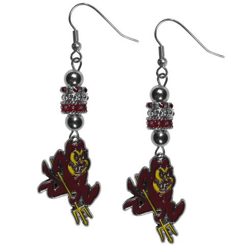 Arizona St. Sun Devils Euro Bead Earrings