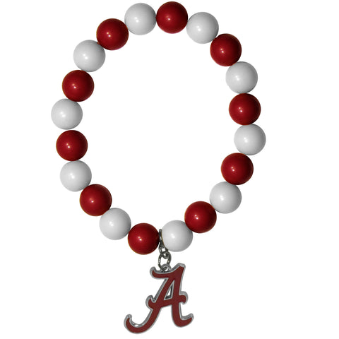Alabama Crimson Tide Fan Bead Bracelet