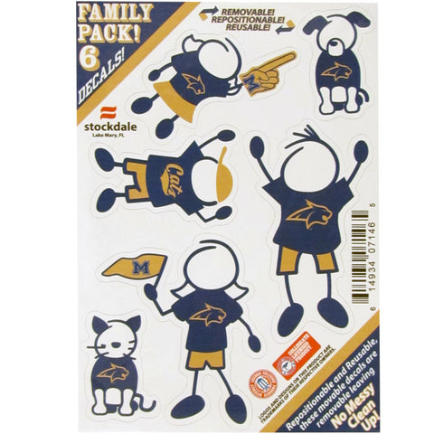 Montana St. Bobcats Family Decal Set Small