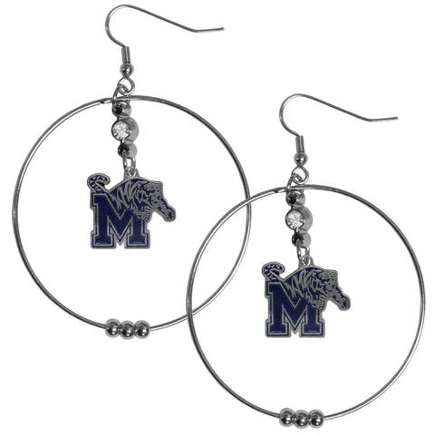 Memphis Tigers 2 Inch Hoop Earrings