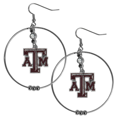 Texas A & M Aggies 2 Inch Hoop Earrings