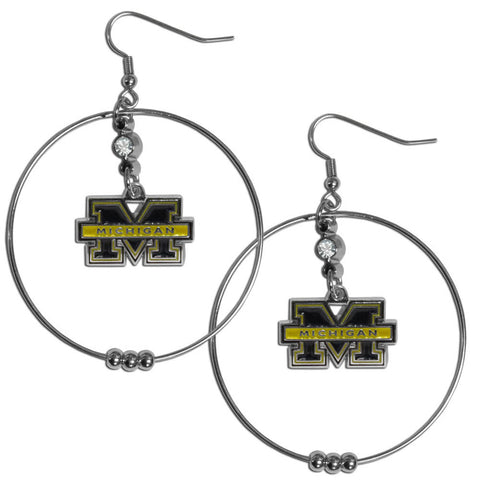 Michigan Wolverines 2 Inch Hoop Earrings