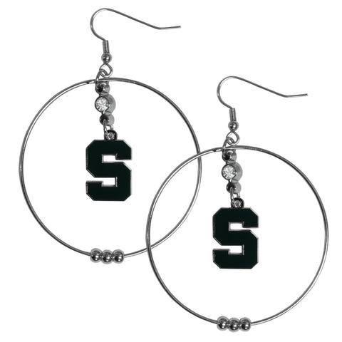 Michigan St. Spartans 2 Inch Hoop Earrings