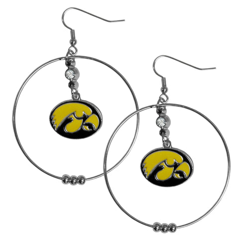 Iowa Hawkeyes 2 Inch Hoop Earrings