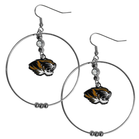 Missouri Tigers 2 Inch Hoop Earrings