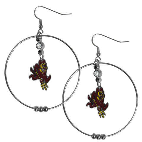 Arizona St. Sun Devils 2 Inch Hoop Earrings