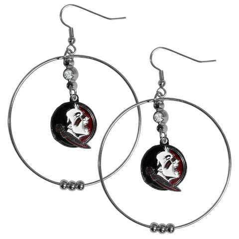 Florida St. Seminoles 2 Inch Hoop Earrings