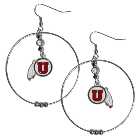 Utah Utes 2 Inch Hoop Earrings