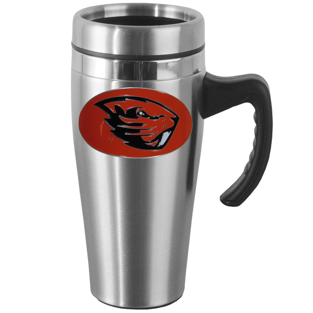 Oregon St. Beavers Steel Travel Mug w/Handle