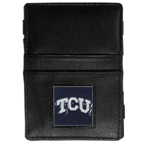 TCU Horned Frogs Leather Jacob's Ladder Wallet