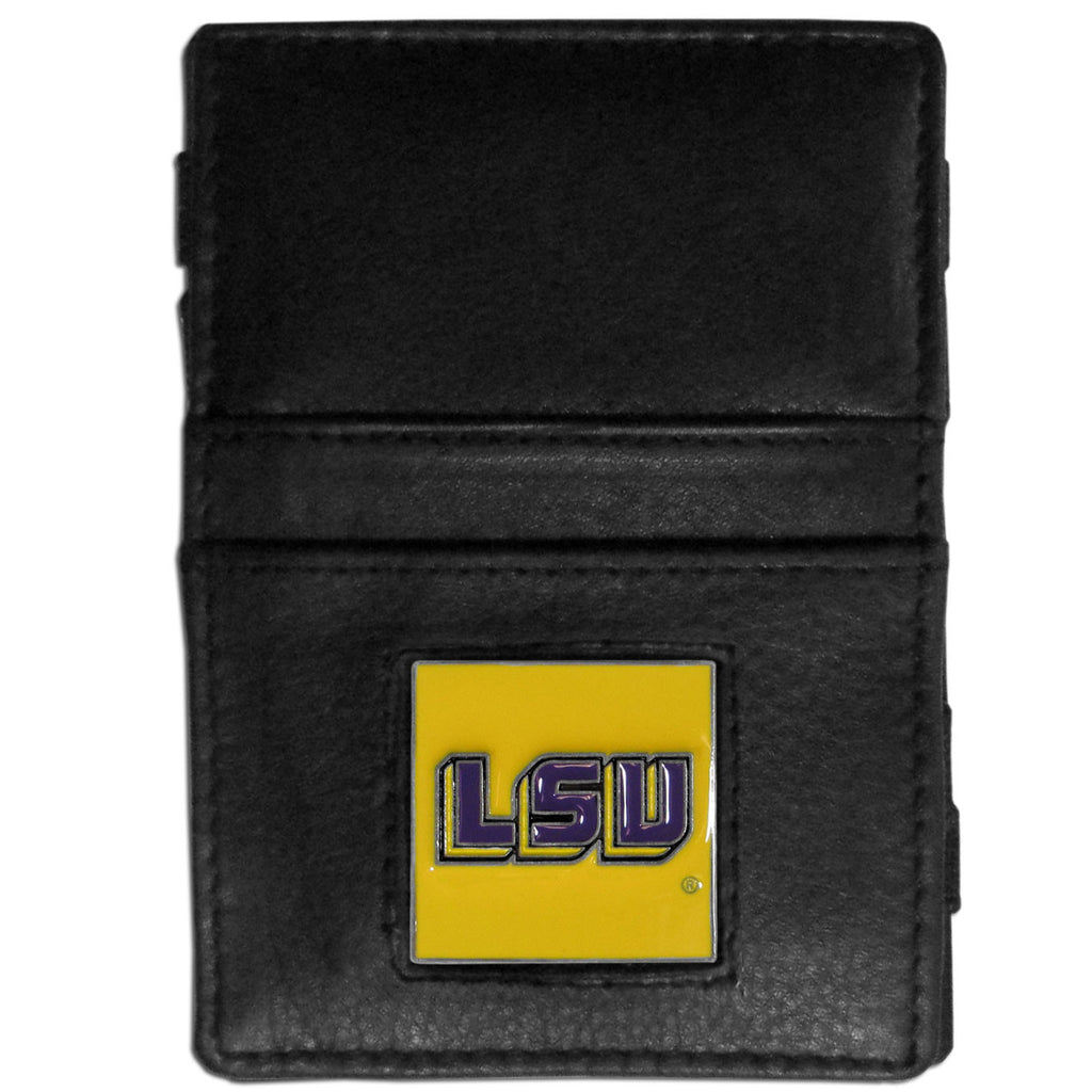LSU Tigers Leather Jacob's Ladder Wallet