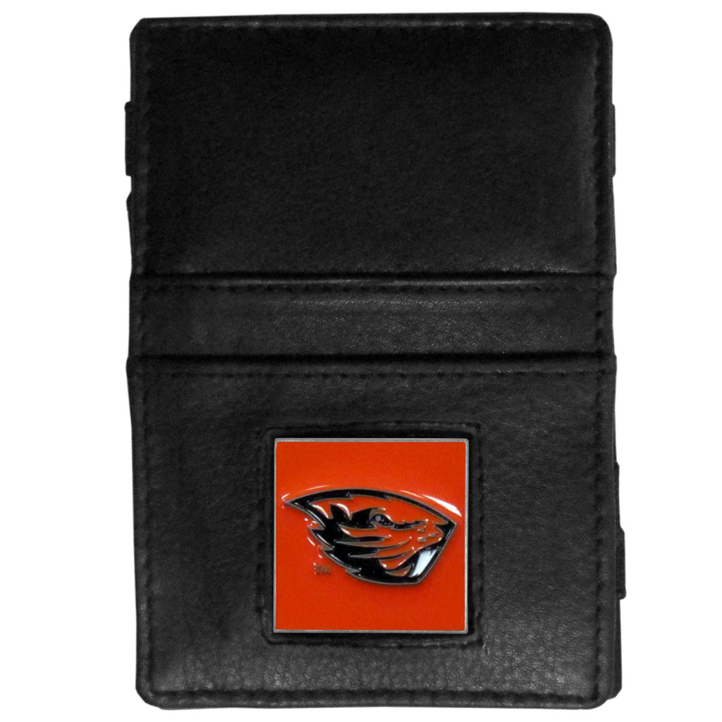 Oregon St. Beavers Leather Jacob's Ladder Wallet