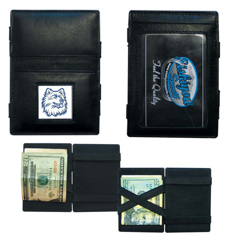 UCONN Huskies Leather Jacob's Ladder Wallet