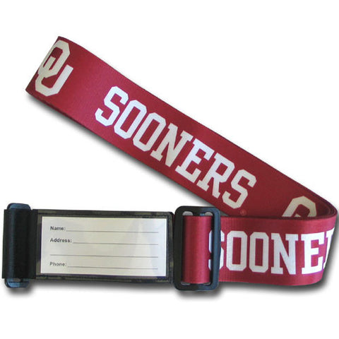 College Luggage Strap - Oklahoma Sooners