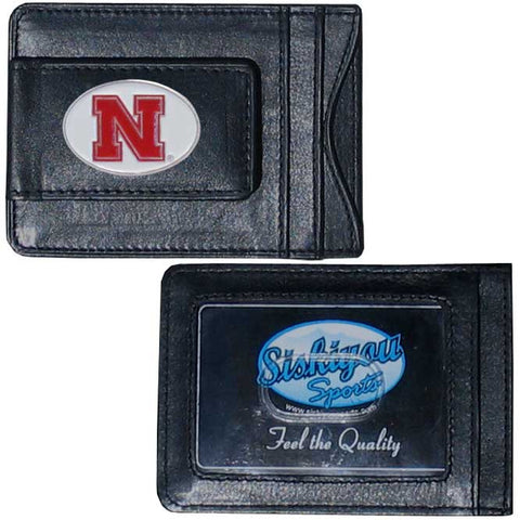 Nebraska Cornhuskers Leather Cash & Cardholder