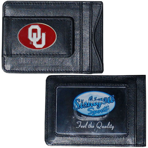 Oklahoma Sooners Leather Cash & Cardholder