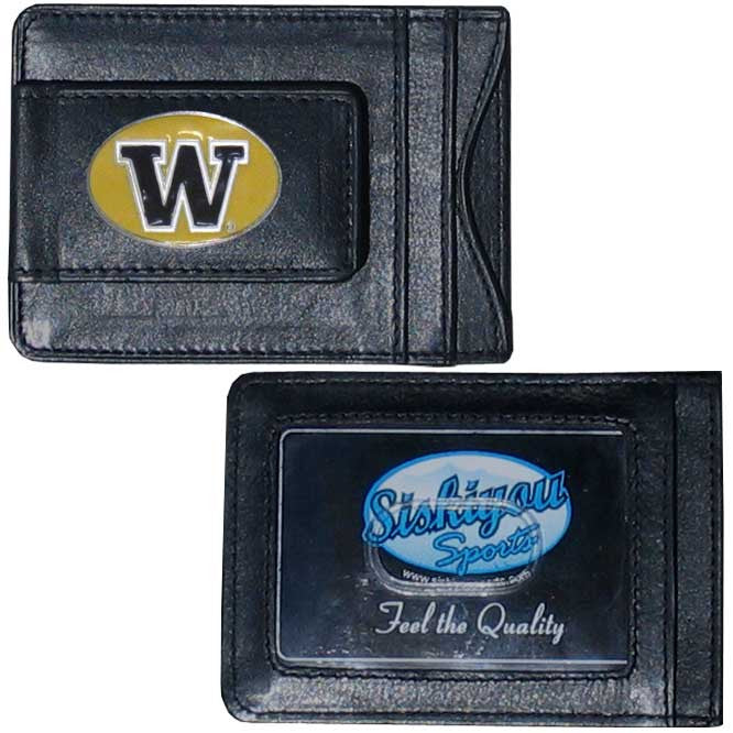 Washington Huskies Leather Cash & Cardholder