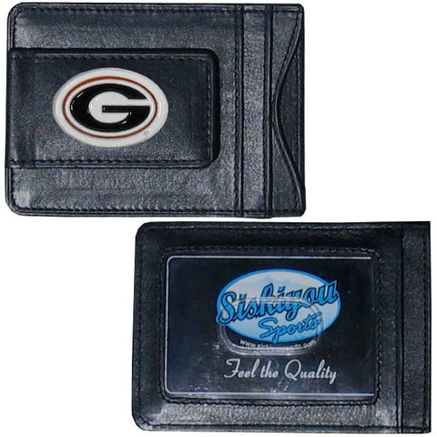 Georgia Bulldogs Leather Cash & Cardholder