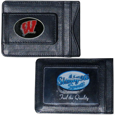 Wisconsin Badgers Leather Cash & Cardholder